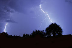 Lightning. And thunder in Central Florida Royalty Free Stock Photos
