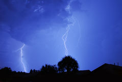 Lightning. And thunder in Central Florida Stock Photo