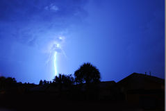Lightning. And thunder in Central Florida stock images