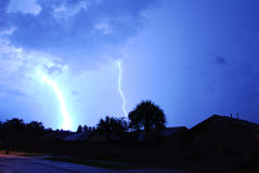 Lightning. And thunder in Central Florida Royalty Free Stock Photography
