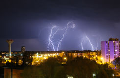 Lightning. Is in Szolnok city royalty free stock image
