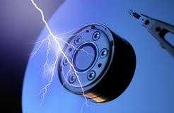 Lightning and IT stock photo