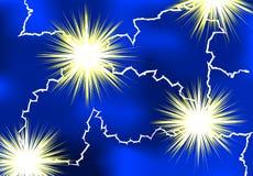 Lightning. Elektrical lightning as background Royalty Free Illustration