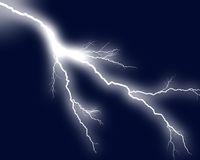 Lightning 3. Lightning bolts against dark background royalty free stock photography