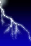 Lightning. White Bolt & Branching Little Flash Stock Photos