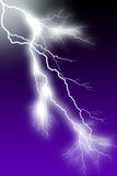 Lightning. White Bolt & Branching Little Flash Royalty Free Stock Image