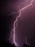 Lightning 4. Flash of lightning during a thunderstorm Royalty Free Stock Photos