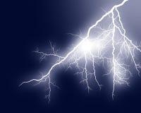 Lightning 4. Lightning boltds against dark background royalty free stock image
