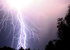 Lightning. I photographed this picture in an summer night in Germany. Some of the lightnings made me blind for minutes Royalty Free Stock Photo