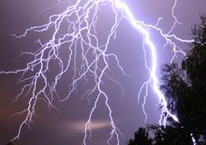 Lightning. I photographed this picture in an summer night in Germany. Some of the lightnings made me blind for minutes Royalty Free Stock Images