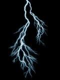 Lightning. Generic lightning on black background vector illustration
