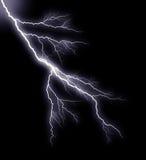 Lightning. Against a dark background Stock Photos