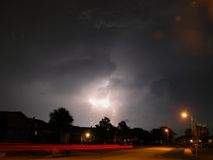 Lightning. Electrical storm in Central Florida Royalty Free Stock Photos