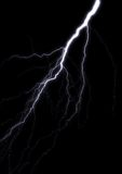 Lightning. A bolt of lightning isolated on black Royalty Free Stock Images