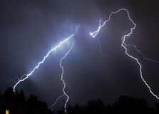 Lightning. Bolts stock image