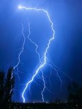 Lightning. Summer lightning in the city royalty free stock photography