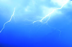 Lightning. Is in nightly sky Royalty Free Stock Photo