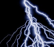 Lightning. A great lightning background - many branches of electrical delight Royalty Free Stock Photography