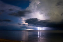 Lightning above the sea Royalty Free Stock Photo