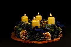 Lightning advent candles Royalty Free Stock Photography