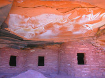 Lightning Anasazi House. Anasazi Cliff Dwelling Royalty Free Stock Images