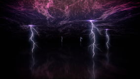 Lightning armageddon loop stock footage
