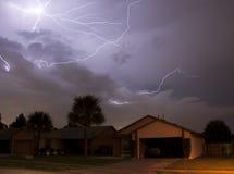 Lightning array Stock Image