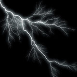 Lightning Background. Bolts of lightning isolated over a black background Royalty Free Stock Photo