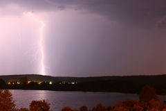 Lightning on a background Royalty Free Stock Image