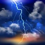 Lightning Background Illustration stock illustration