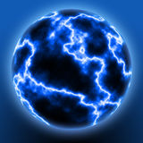 Lightning Ball. An illustration of lightning in a globe Royalty Free Stock Photo