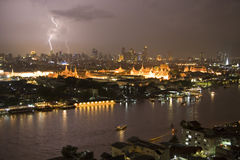 Lightning in Bangkok,Thailand Stock Photography