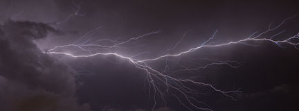 Lightning Banner Royalty Free Stock Photography