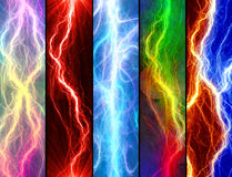 Lightning banners Stock Photo