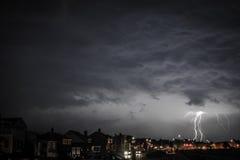 Lightning at the Beach Stock Image