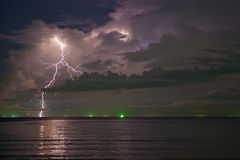 Lightning in beautiful cloud Stock Photos