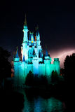 Lightning Behind the Magic Kingdom. Stock Photo