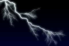 Lightning - big bolt. Night lightning - big bolt Royalty Free Stock Images