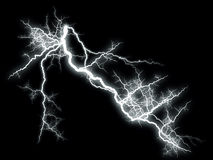 Lightning on Black Royalty Free Stock Photo