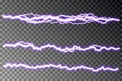 Lightning blast vector isolated on checkered background. Electric discharge. Thunderbolt lightning vector illustration