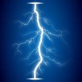 Lightning on blue background. Eps10 Stock Images