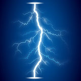 Lightning on blue background Stock Images