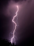 Lightning Bolt. Bolt of lightning on stormy night Royalty Free Stock Images