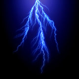 Lightning bolt. Rendered on white background Stock Photos