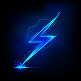 Lightning Bolt. Illustration of sparkling lightning bolt with electric effect vector illustration