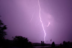 Lightning bolt. In the sky  thunder sky weather storm crazy bright electricity hot stock photos
