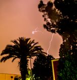 Lightning Bolt. A lightning bolt above the skies of Catania, Italy stock photos