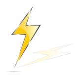 Lightning bolt art vector illustration. Lightning bolt vector illustration art on white Stock Photos