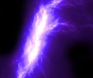 Lightning bolt on black background. Fractal lightning bolt on black background Royalty Free Stock Photo