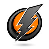 Lightning bolt button Stock Images